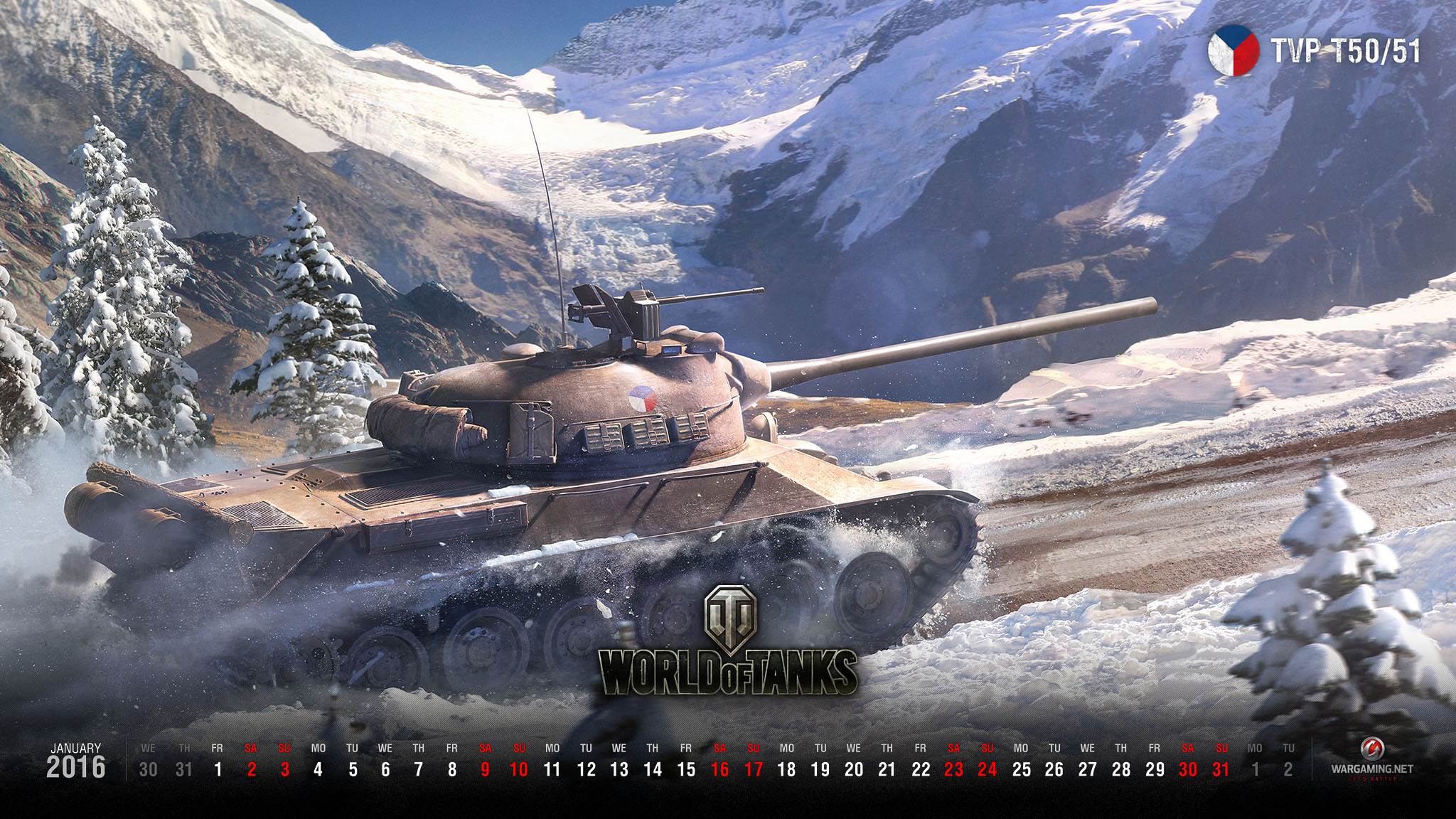 January 2016 WoT Wallpaper – The Armored Patrol