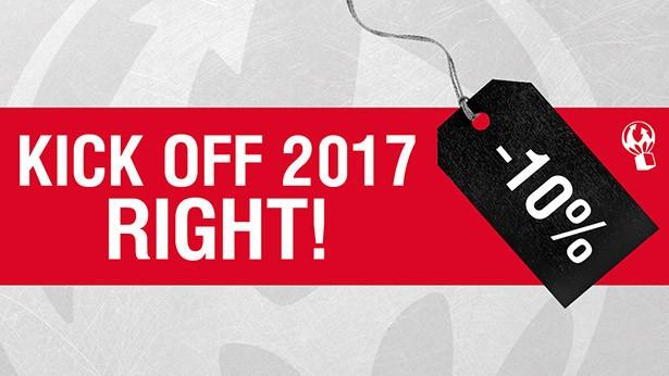 10% de réduction pour démarrer l'année du bon pied !