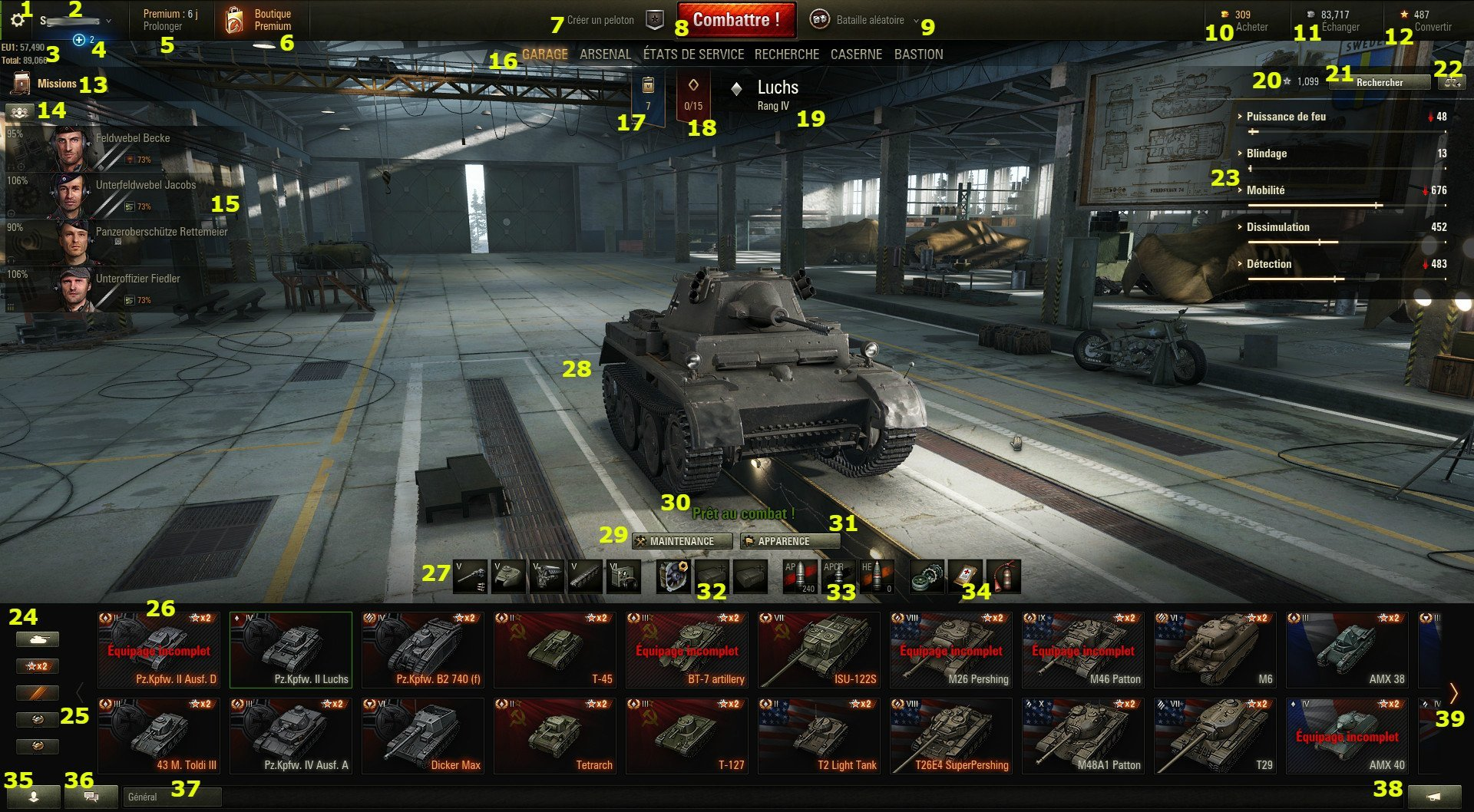 World of Tanks Ver_9_16_garage_fr