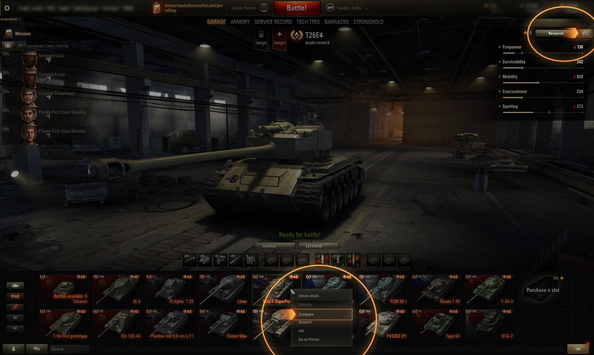 wot tank compare
