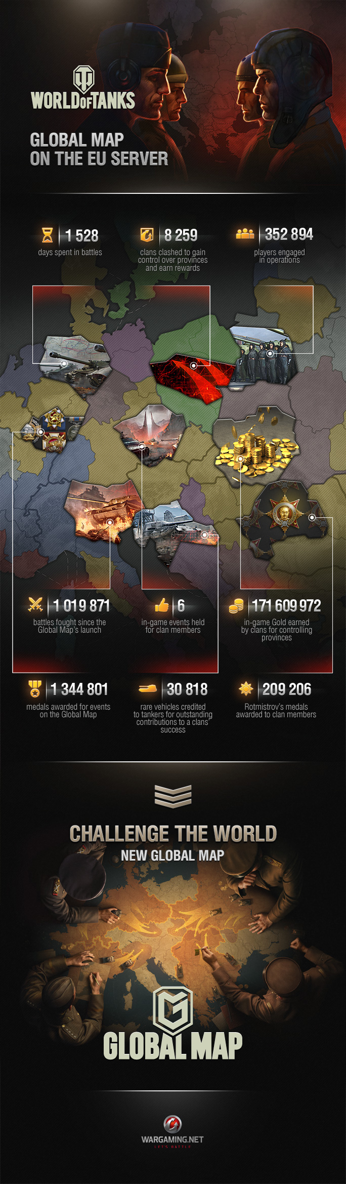 Clan Wars: Old Global Map in Numbers | Clan Wars | World of Tanks