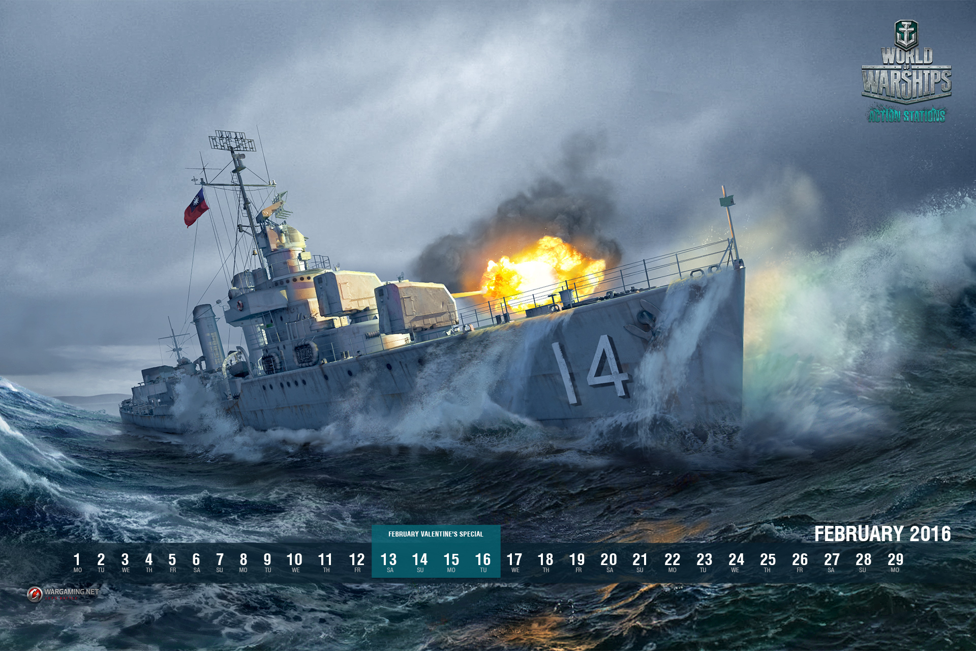 February 2019 Calendar World Of Warships February In Game Events + Wallpaper | World of Warships